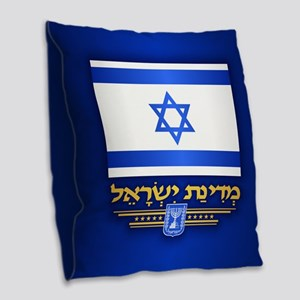 Israel Burlap Throw Pillow