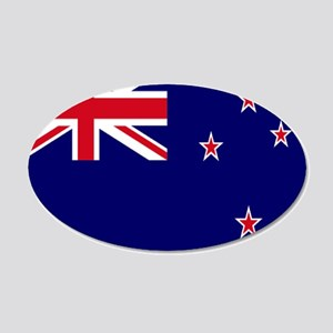 New Zealand flag 20x12 Oval Wall Decal