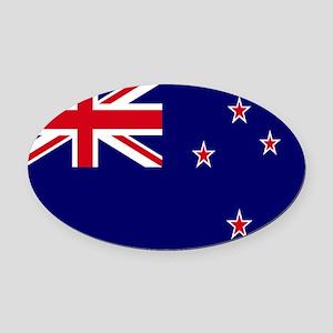 New Zealand flag Oval Car Magnet
