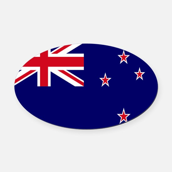 New Zealand flag Oval Car Magnet