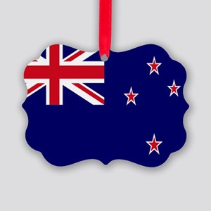 New Zealand flag Picture Ornament