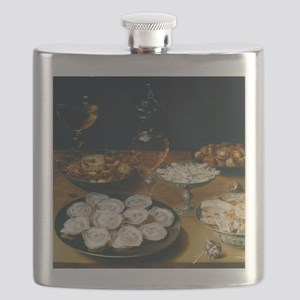 Dishes With Oysters, Osias Beert Flask