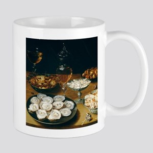 Dishes With Oysters, Osias Beert Mug