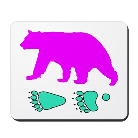 Bear and Tracks Mousepad