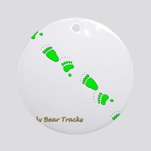 Grizzly Tracks Ornament (Round)