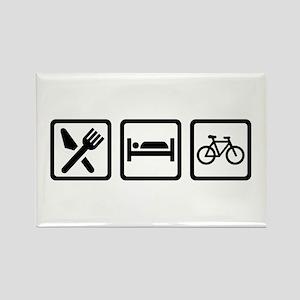 Eat Sleep Cycling Rectangle Magnet