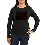 Enslaved Freedom Women's Long Sleeve Dark T-Shirt