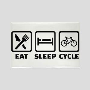 Eat Sleep Cycle Cycling Rectangle Magnet