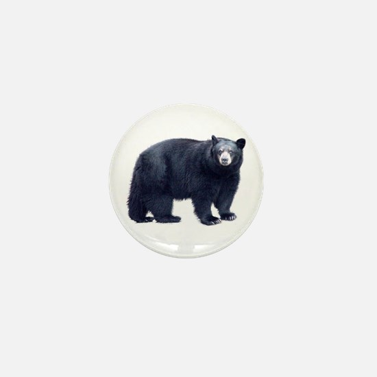 Black Bear Mini Button