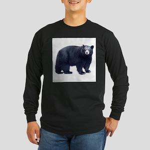 Black Bear Long Sleeve Dark T-Shirt