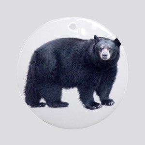 Black Bear Ornament (Round)