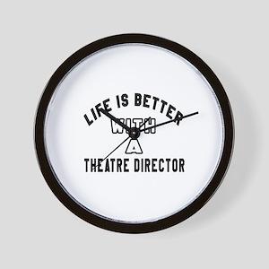 Theatre director Designs Wall Clock