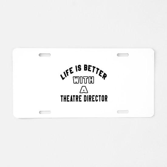 Theatre director Designs Aluminum License Plate