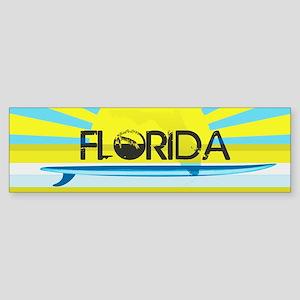 FLORIDA EMERALD GREEN SURF Bumper Sticker