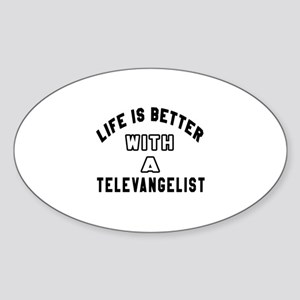 Televangelist Designs Sticker (Oval)