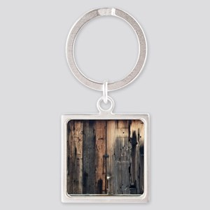 Tate Barn Wood 1 by Leslie Harlow Keychains