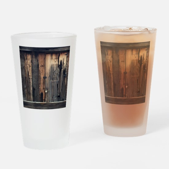 Tate Barn Wood 1 by Leslie Harlow Drinking Glass