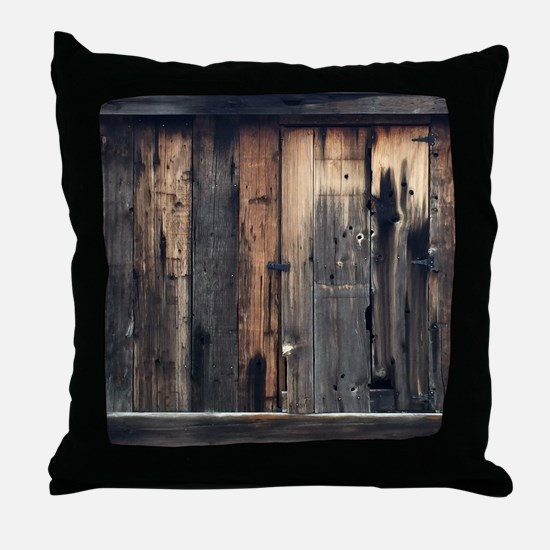 Tate Barn Wood 1 by Leslie Harlow Throw Pillow