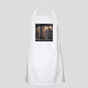 Tate Barn Wood 1 by Leslie Harlow Apron