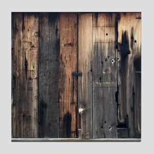 Tate Barn Wood 1 by Leslie Harlow Tile Coaster