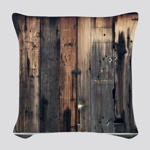 Tate Barn Wood 1 by Leslie Harlow Woven Throw Pill