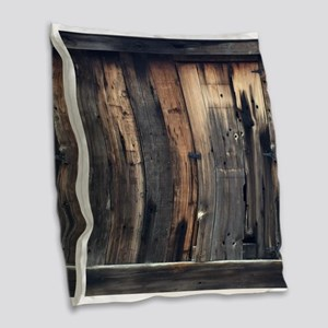 Tate Barn Wood 1 by Leslie Harlow Burlap Throw Pil