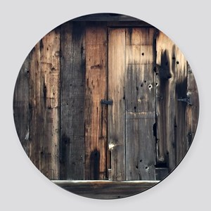 Tate Barn Wood 1 by Leslie Harlow Round Car Magnet