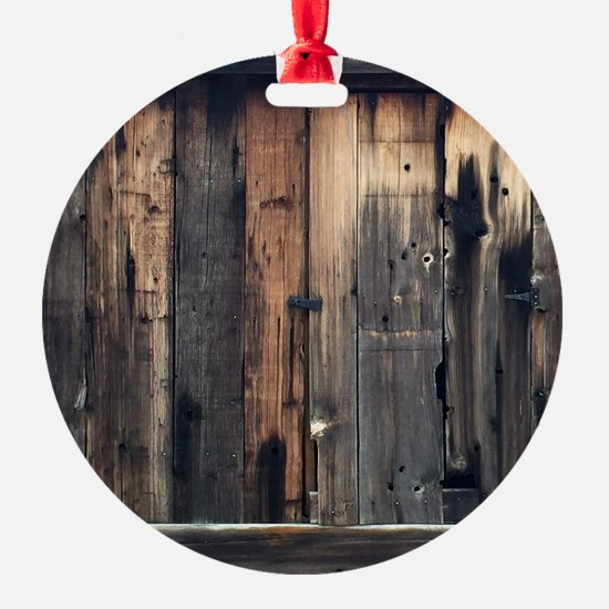 Tate Barn Wood 1 by Leslie Harlow Ornament
