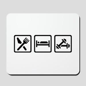Eat Sleep Bodybuilding Mousepad