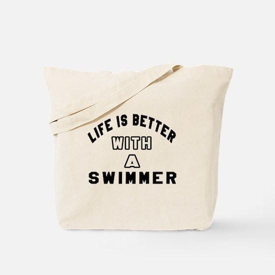 Swimmer Designs Tote Bag
