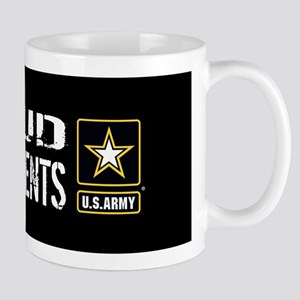 U.S. Army: Proud Grandparents (Black) Mug