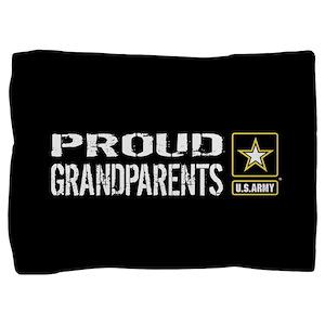U.S. Army: Proud Grandparents (Black) Pillow Sham