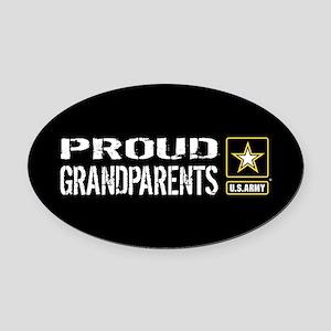 U.S. Army: Proud Grandparents (Bla Oval Car Magnet