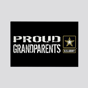U.S. Army: Proud Grandparents (Bl Rectangle Magnet