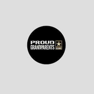U.S. Army: Proud Grandparents (Black) Mini Button