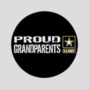U.S. Army: Proud Grandparents (Black) Button