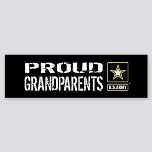 U.S. Army: Proud Grandparents (Bl Sticker (Bumper)