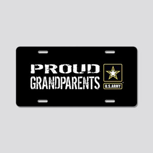 U.S. Army: Proud Grandparen Aluminum License Plate