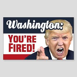 Washington You're Fired! Sticker (Rectangle)