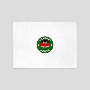 Nairobi Kenya 5'x7'Area Rug