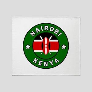 Nairobi Kenya Throw Blanket