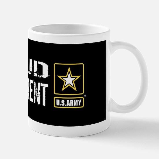 U.S. Army: Proud Grandparent (Black) Mug