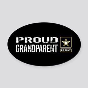 U.S. Army: Proud Grandparent (Blac Oval Car Magnet