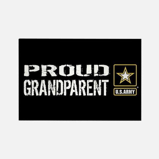 U.S. Army: Proud Grandparent (Bla Rectangle Magnet