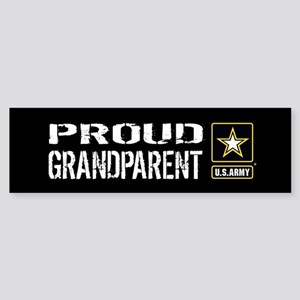 U.S. Army: Proud Grandparent (Bla Sticker (Bumper)