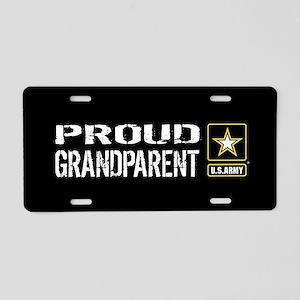 U.S. Army: Proud Grandparen Aluminum License Plate