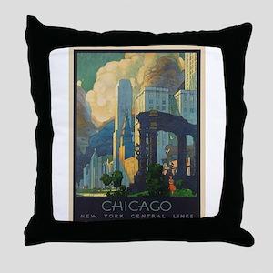 Vintage poster - Chicago Throw Pillow
