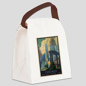 Vintage poster - Chicago Canvas Lunch Bag