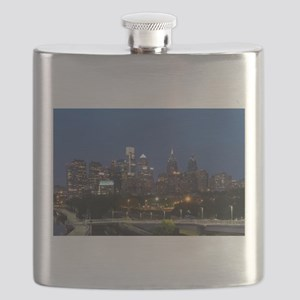 Philly skyline from Schuylkill Banks boardwa Flask