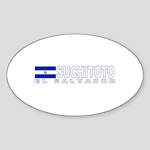 Suchitoto, El Salvador Oval Sticker